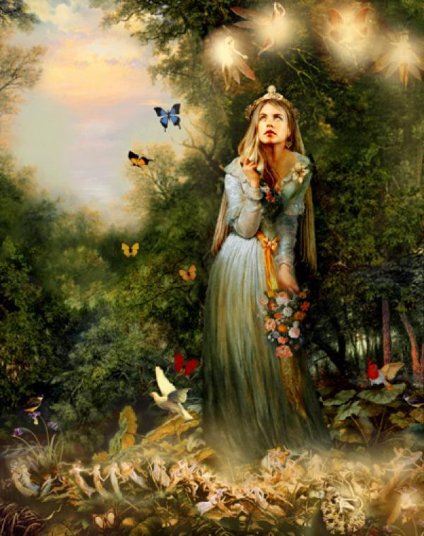 Earth Goddess and butterflies
