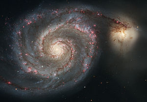 The Whirlpool Galaxy (Spiral Galaxy M51, NGC 5...