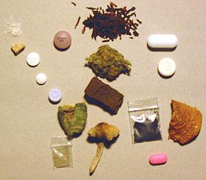 An arrangement of psychoactive drugs
